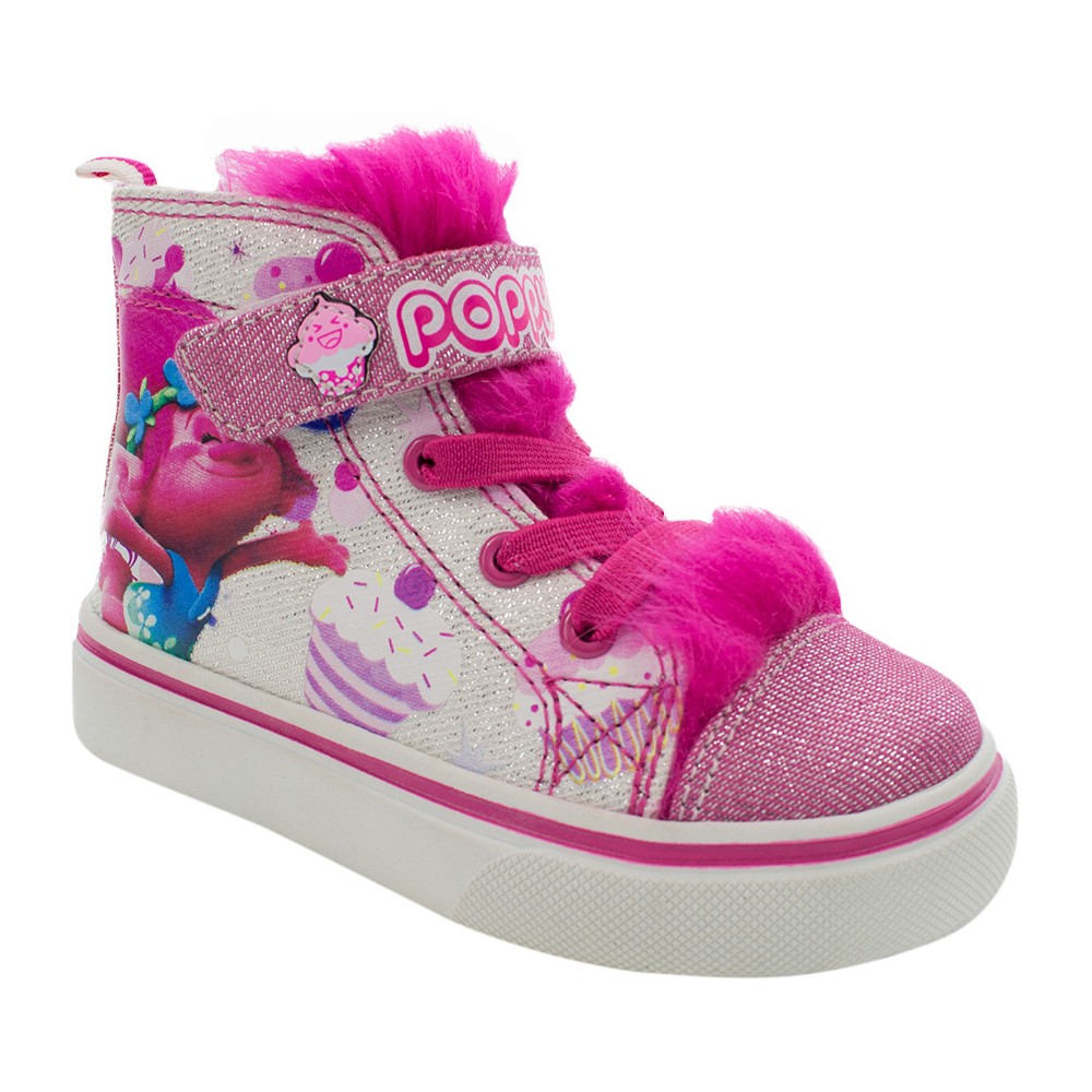 Toddler Girls DreamWorks Troll High Top Sneakers - White 9