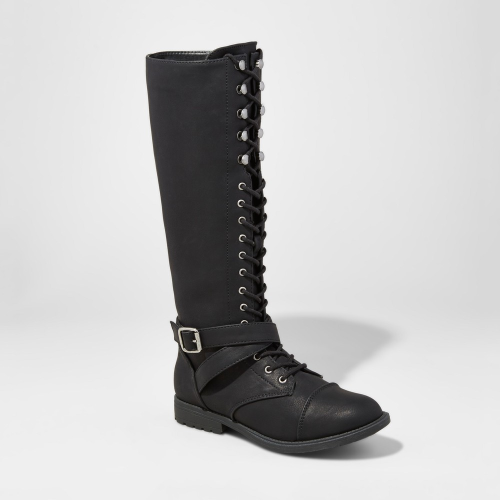 Womens Magda Lace-Up Tall Boots - Mossimo Supply Co. Black 11
