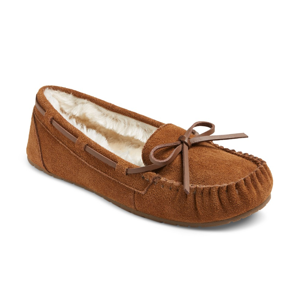 Women's Chaia Suede Moccasin Slippers - Mossimo Supply Co. Chestnut (Brown) 11