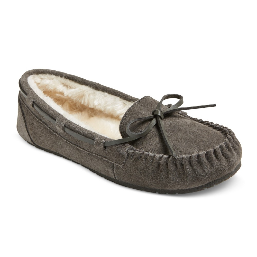 Womens Chaia Suede Moccasin Slippers - Mossimo Supply Co. Gray 6