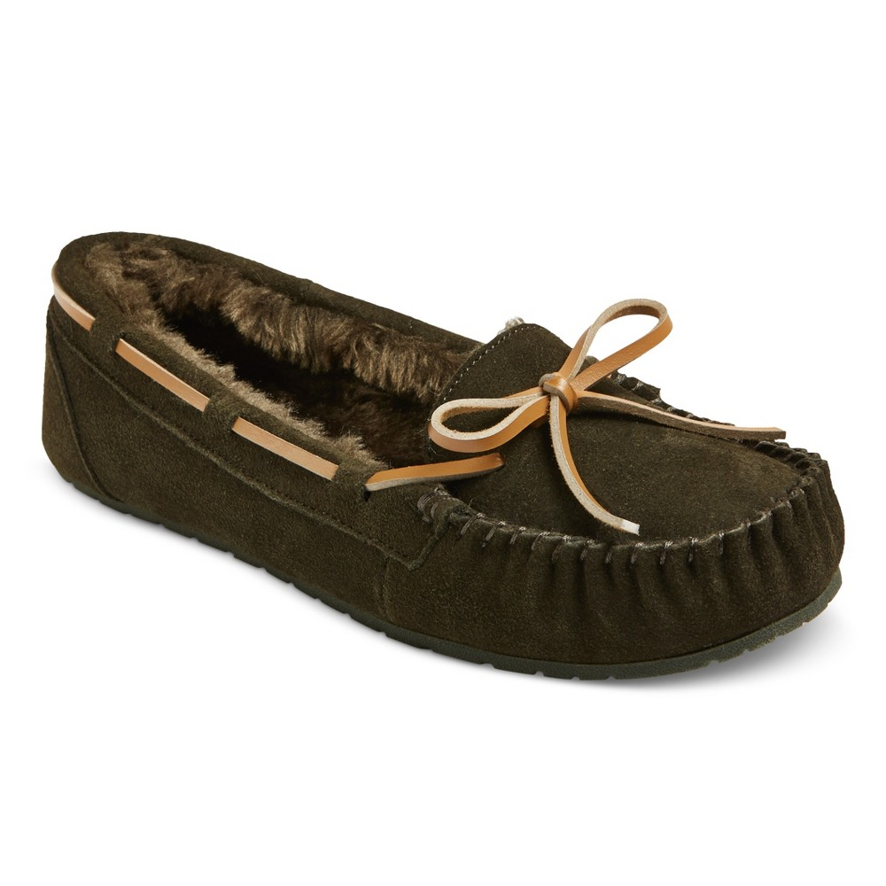 Womens Chaia Suede Moccasin Slippers - Mossimo Supply Co. Olive (Green) 6