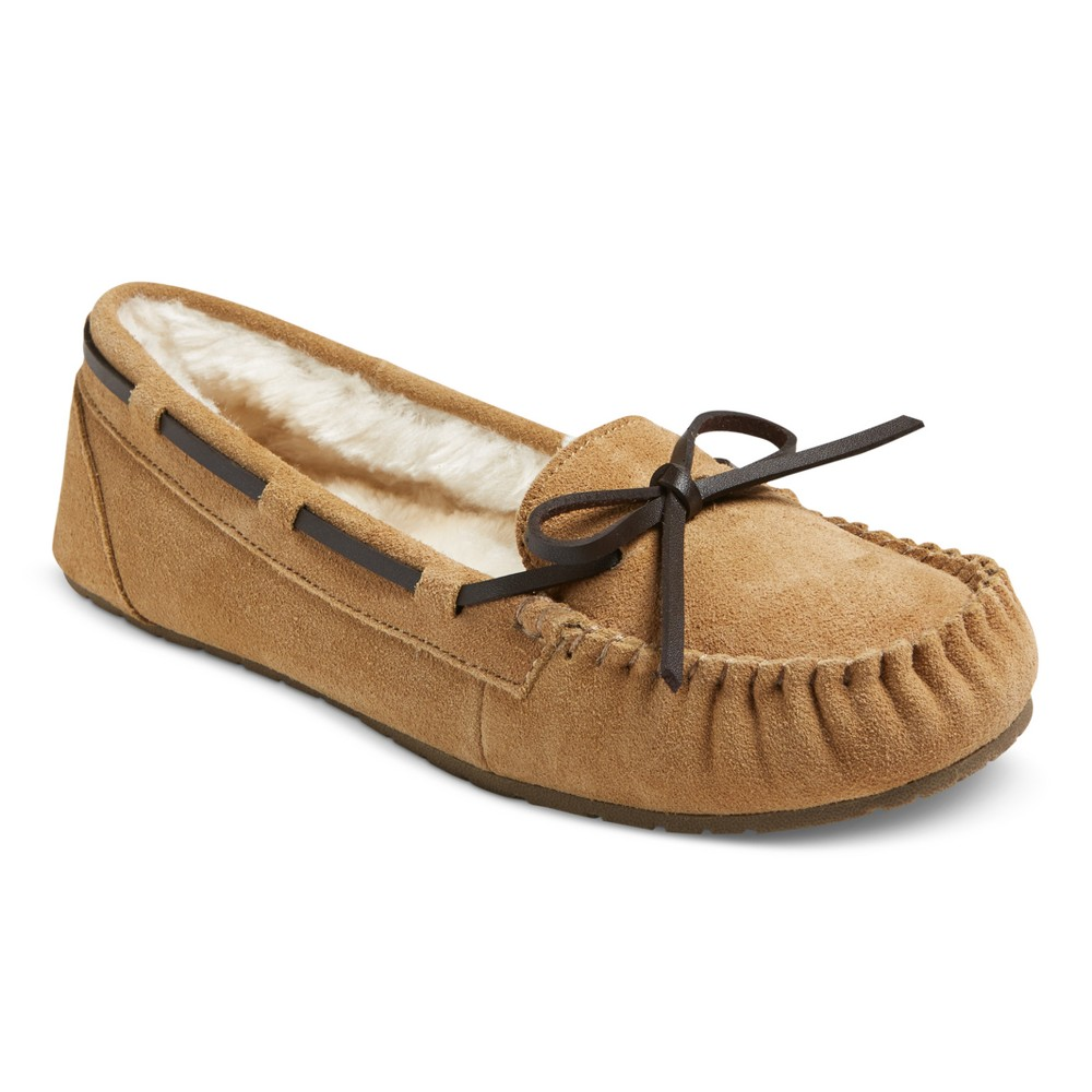 Womens Chaia Suede Moccasin Slippers - Mossimo Supply Co. Tan 7