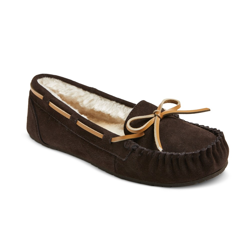 Women's Chaia Suede Moccasin Slippers - Mossimo Supply Co. Brown 6