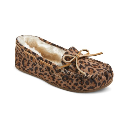 Women's Chaia Suede Moccasin Slippers - Mossimo Supply Co.™ Leopard 8