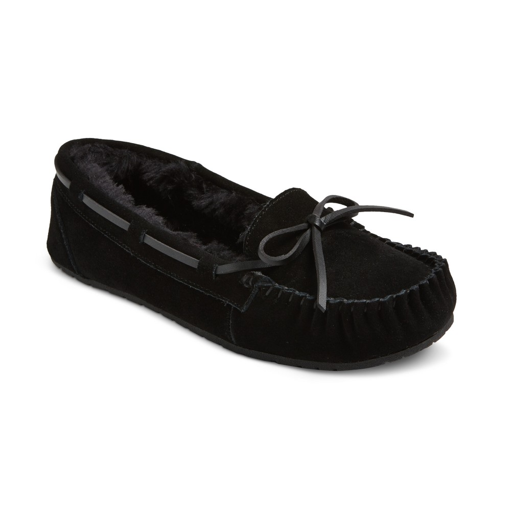 Womens Chaia Suede Moccasin Slippers - Mossimo Supply Co. Black 8