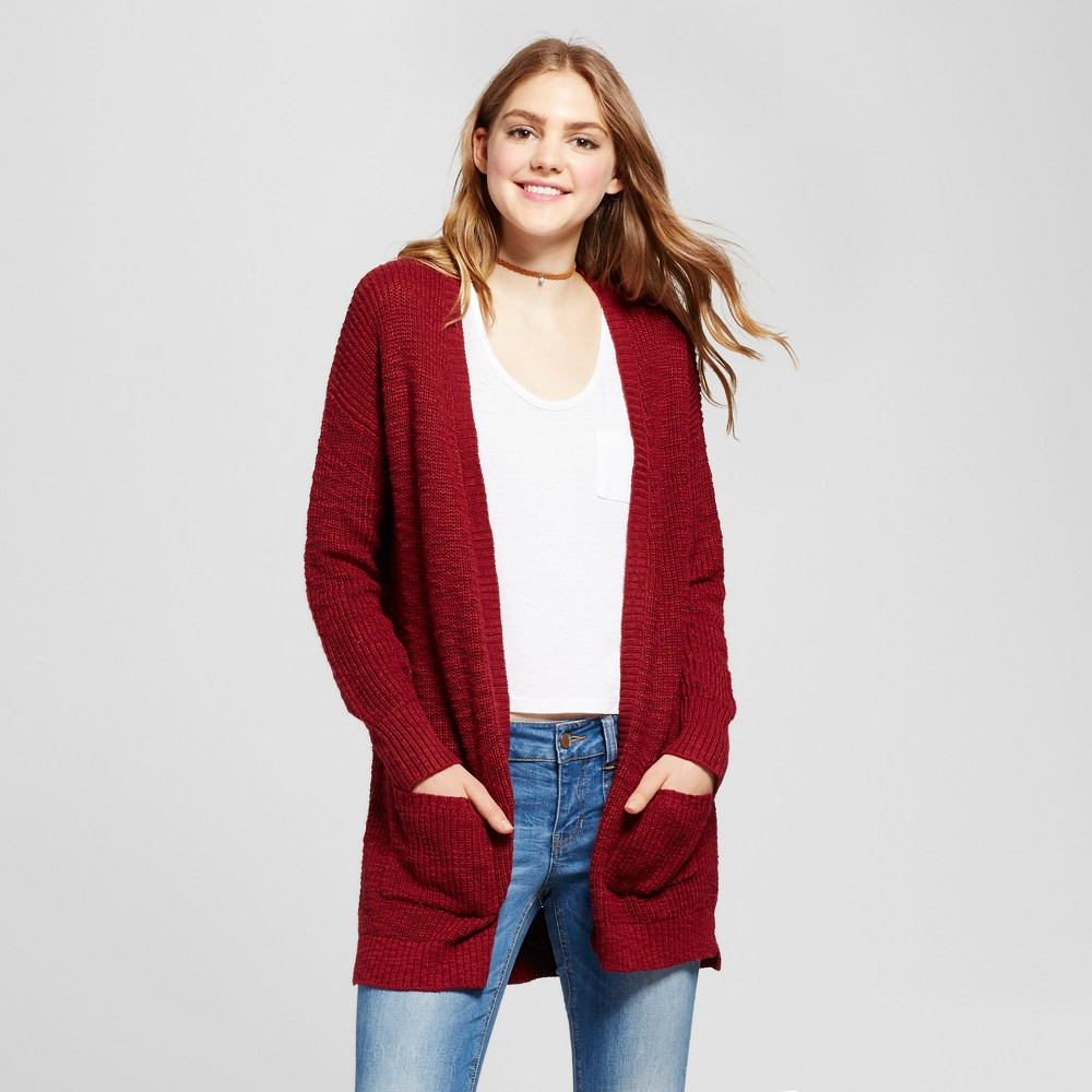Womens Shaker Stitch Cardigan - Mossimo Supply Co. Burgundy (Red) XS