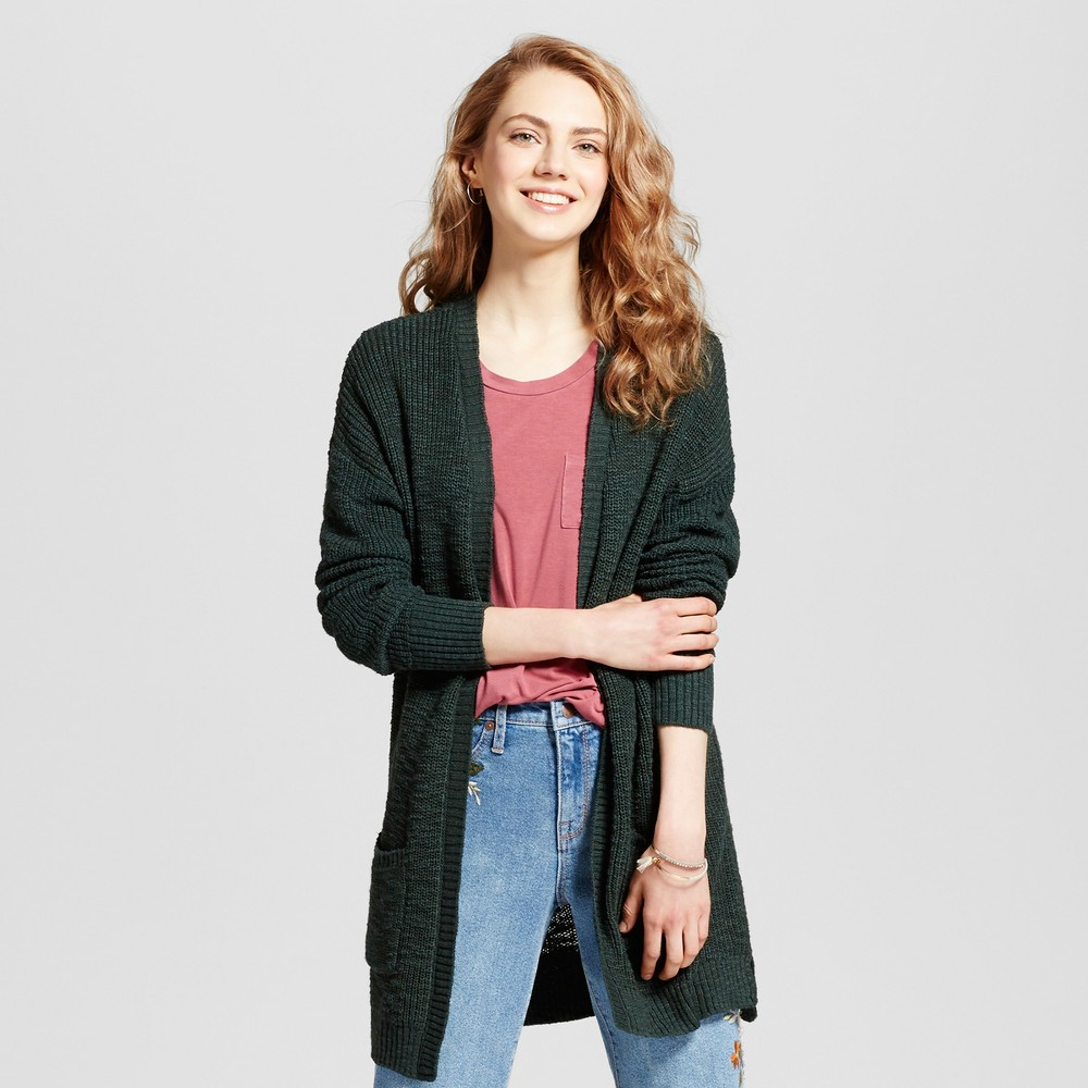 Womens Shaker Stitch Cardigan - Mossimo Supply Co. Green S