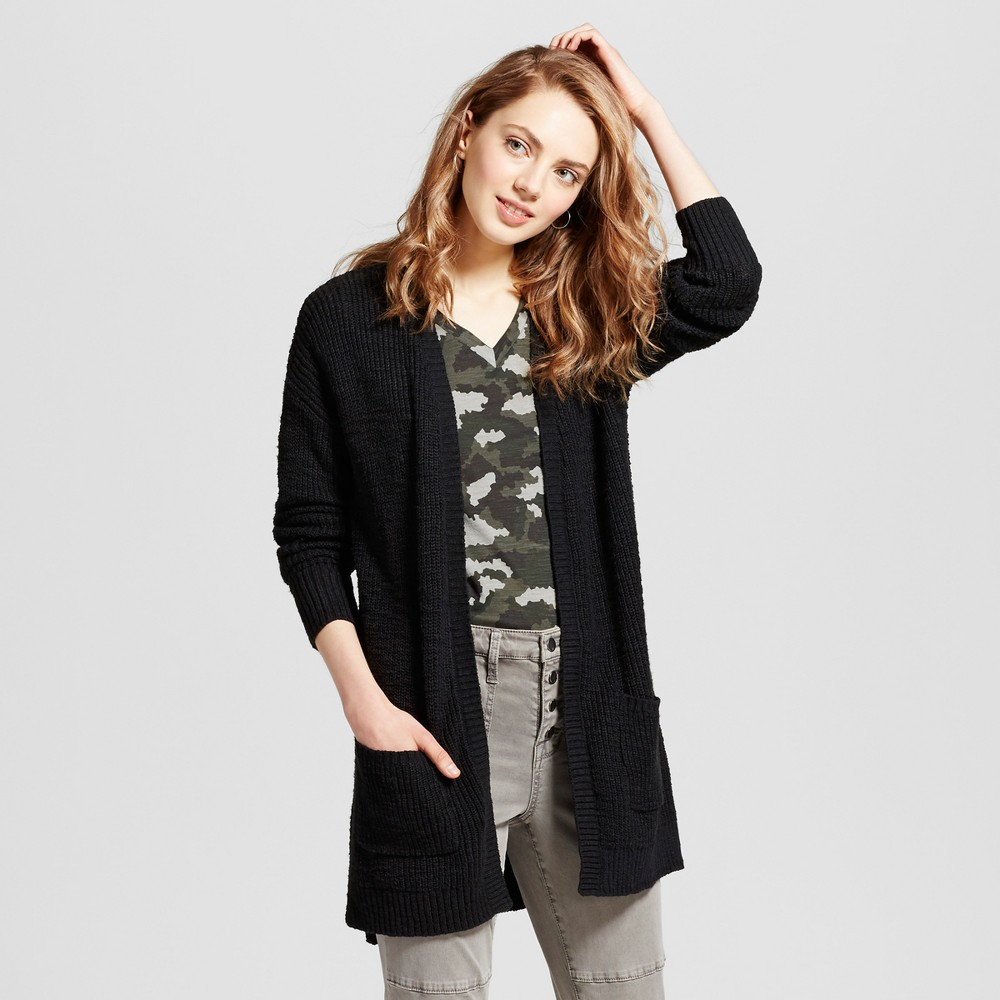 Womens Shaker Stitch Cardigan - Mossimo Supply Co. Black L