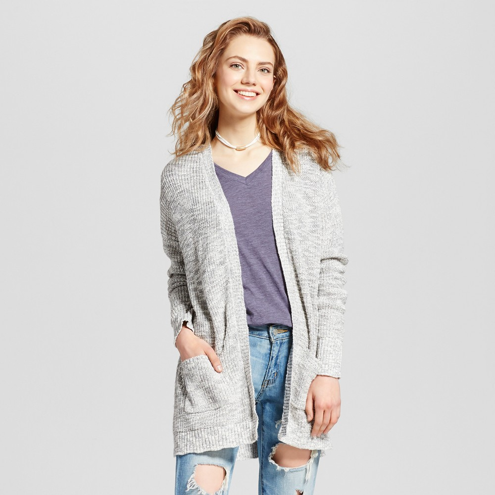 Womens Shaker Stitch Cardigan - Mossimo Supply Co. Gray M