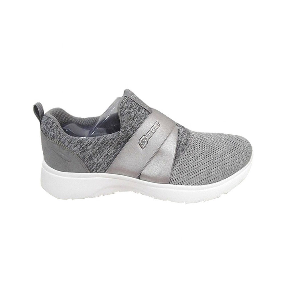 Womens S Sport By Skechers Roseate Performance Athletic Shoes - Gray 7.5, Gray White