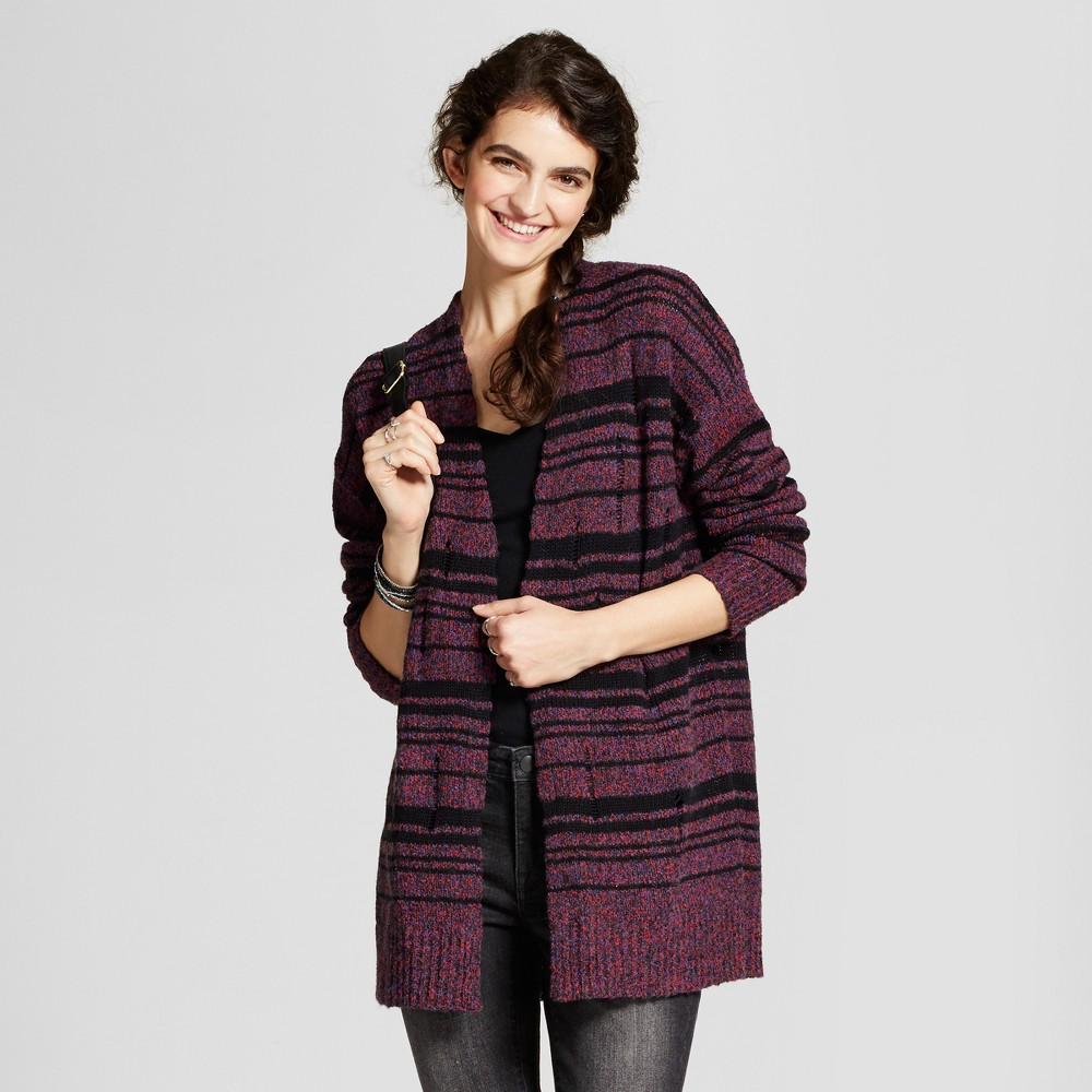 Women's Destructed Cardigan M - Mossimo Supply Co., Multi-Colored