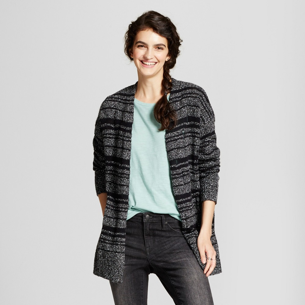 Womens Destructed Cardigan S - Mossimo Supply Co., Black