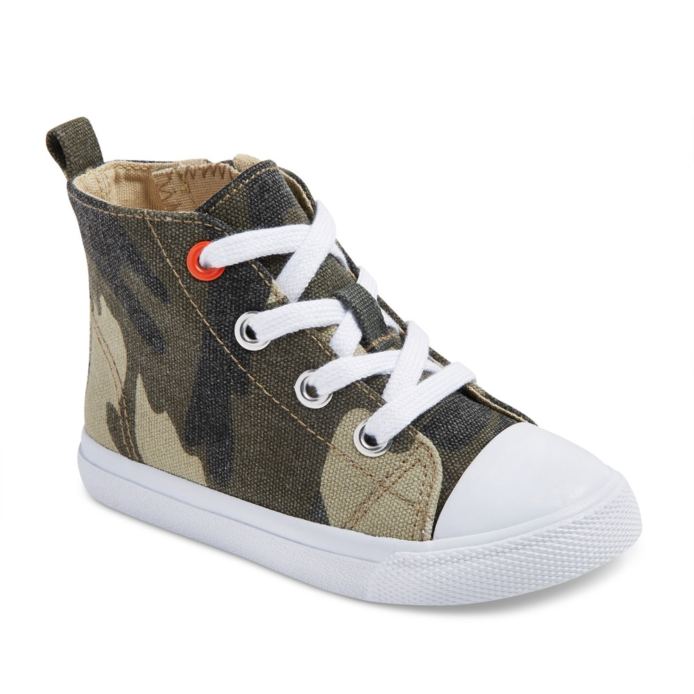 Toddler Boys Haywood Mid Top Canvas Sneakers 12 - Cat & Jack - Green, Multicolored