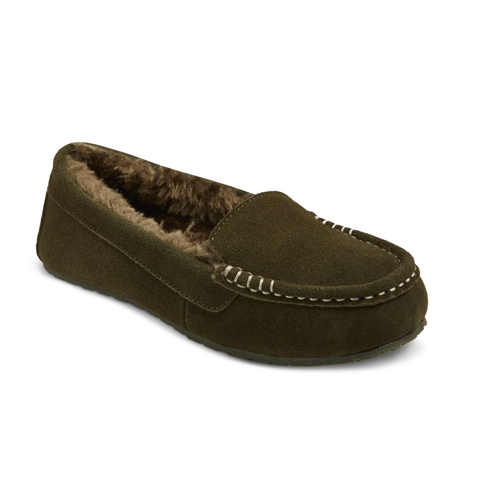 Womens Gemma Suede Driving Slippers - Mossimo Supply Co. Olive (Green) 8