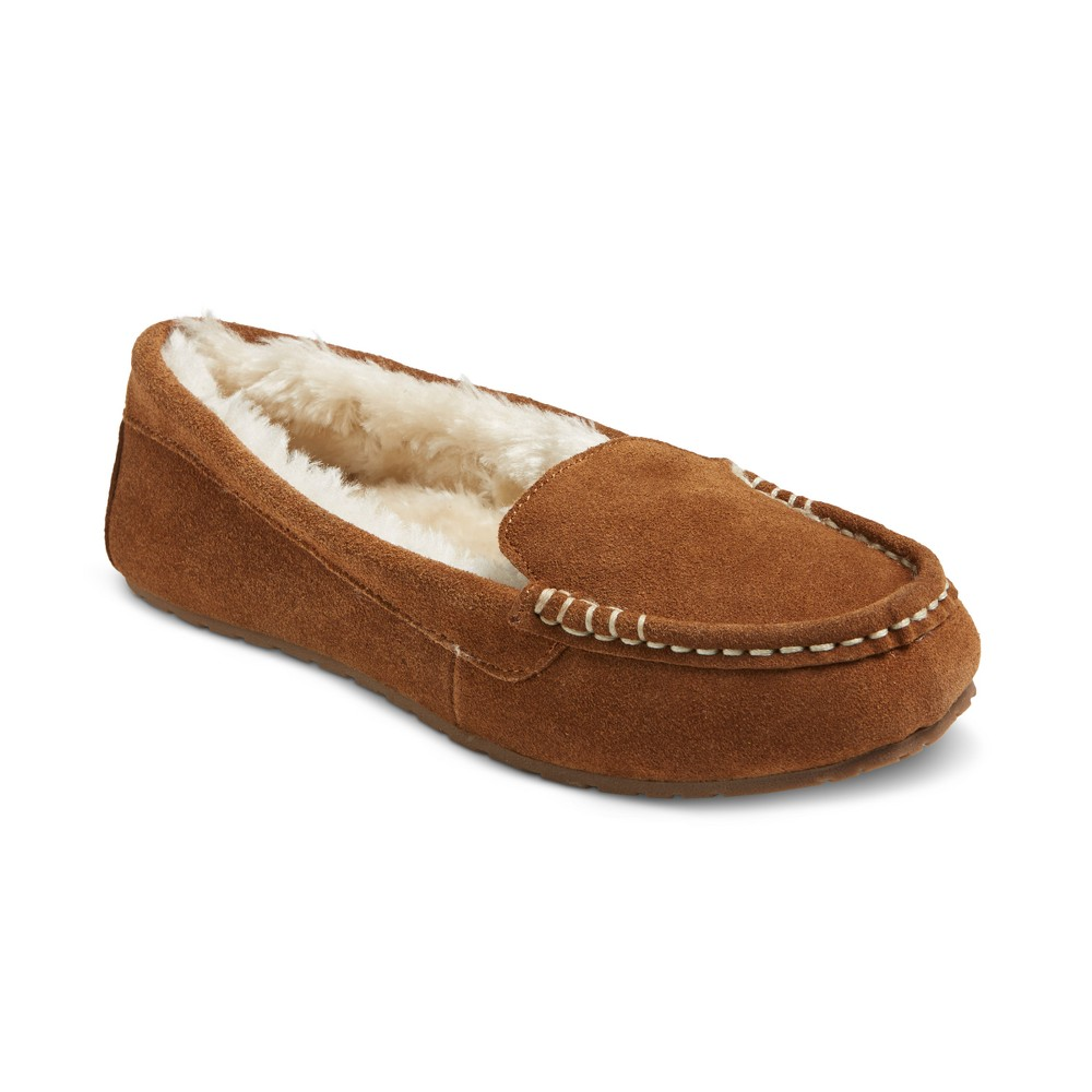 Womens Gemma Suede Driving Slippers - Mossimo Supply Co. Chestnut (Brown) 10