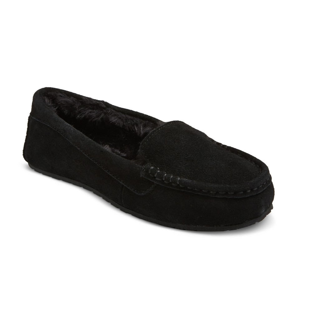 Womens Gemma Suede Driving Slippers - Mossimo Supply Co. Black 10