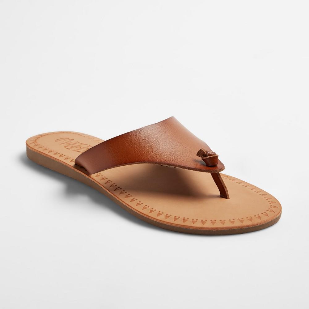 Womens Mad Love Julia Flip Flop Sandals - Red Brown 7