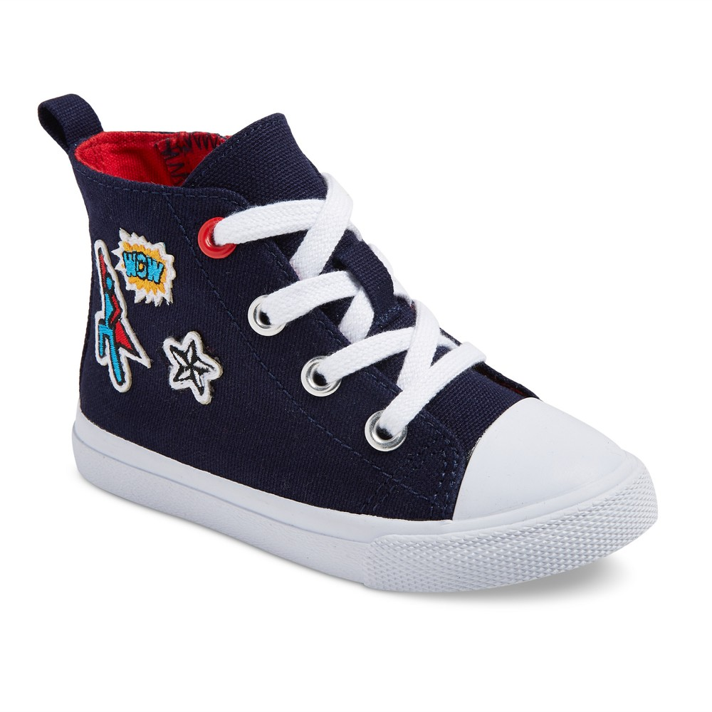 Toddler Boys Diem Canvas High Sneakers 10 - Cat & Jack - Navy, Blue