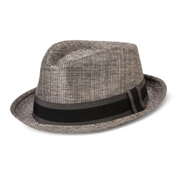 Bioworld® Men's Fedora With Black And Gray Band - Gray
