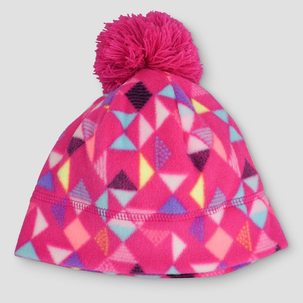Girls Fleece Pom Beanie - Cat & Jack Pink 4-7