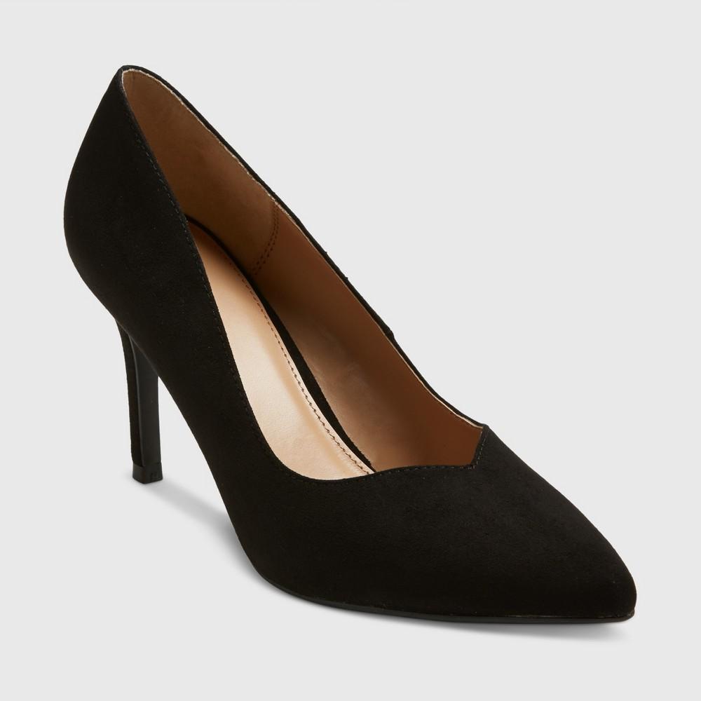 Womens Sweetheart Topline Heel Pumps - A New Day Black 6