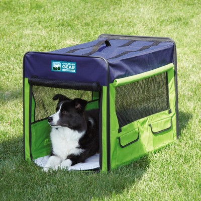guardian gear collapsible crate greenblue medium - Collapsible Dog Crate