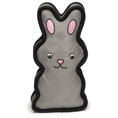 Grriggles MegaRuffs Chaser Rabbit Dog Toy - Gray Black