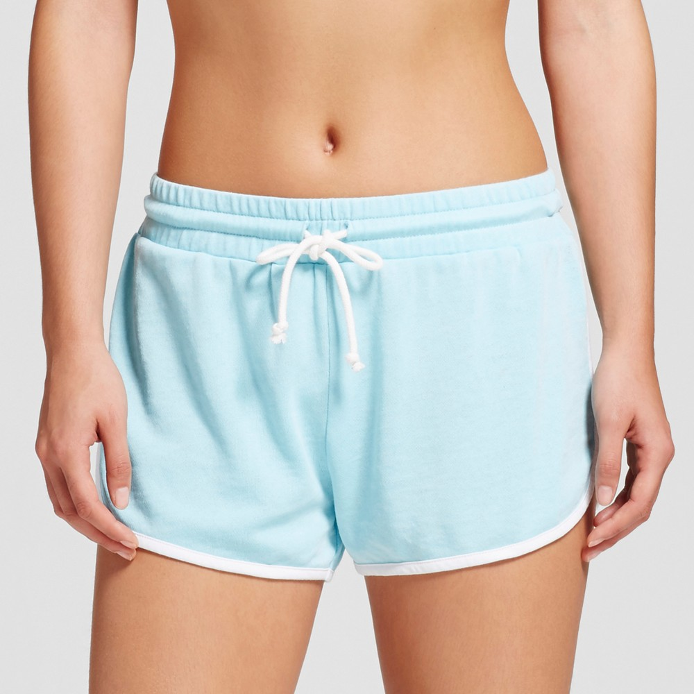 Womens Pajama Shorts - Grayson Threads (Juniors) Soft Turquoise XL, Blue