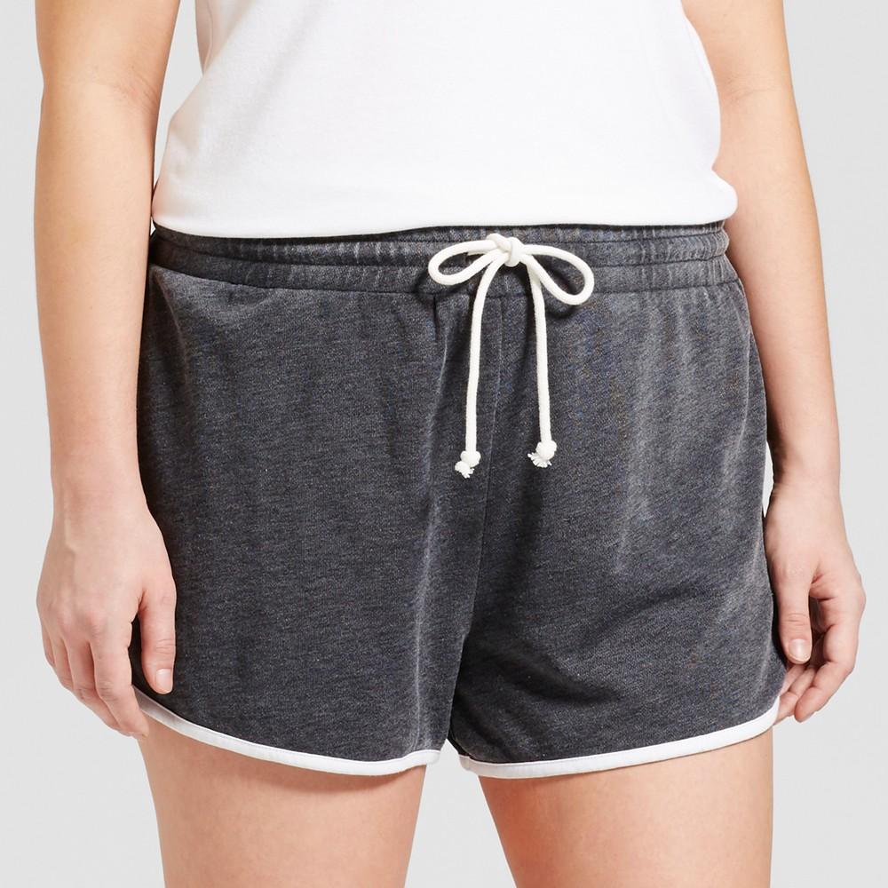 Womens Plus Size Pajama Shorts - Grayson Threads (Juniors) Black 3X