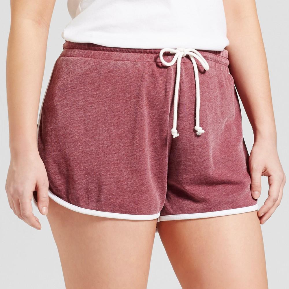 Womens Plus Size Pajama Shorts - Grayson Threads (Juniors) Cranberry Juice 2X, Purple