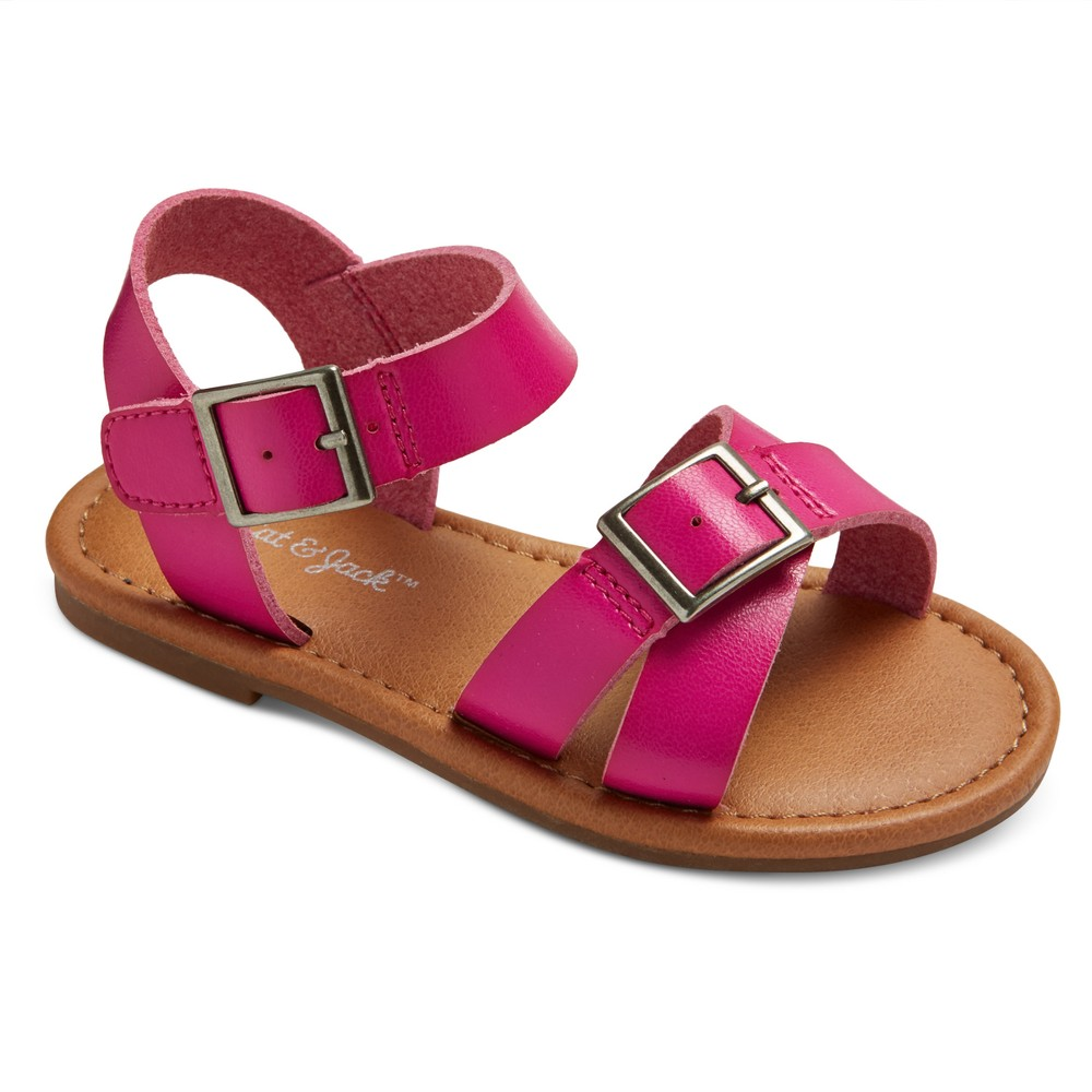 Toddler Girls Juliet Two Piece Footbed Sandals 11 - Cat & Jack - Pink