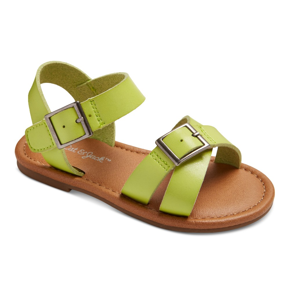 Toddler Girls Juliet Two Piece Footbed Sandals 10 - Cat & Jack - Yellow