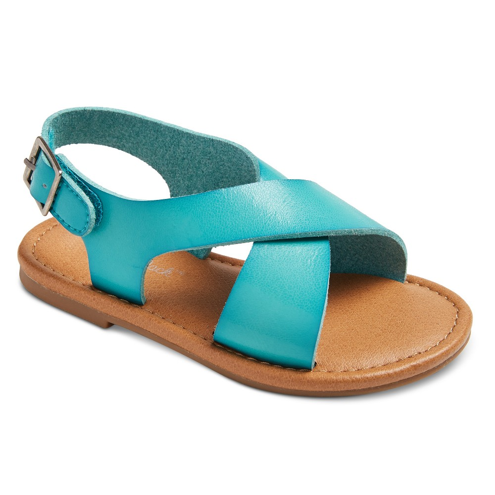 Toddler Girls Taryn Two Piece Banded Sandals 7 - Cat & Jack Turquoise, Blue