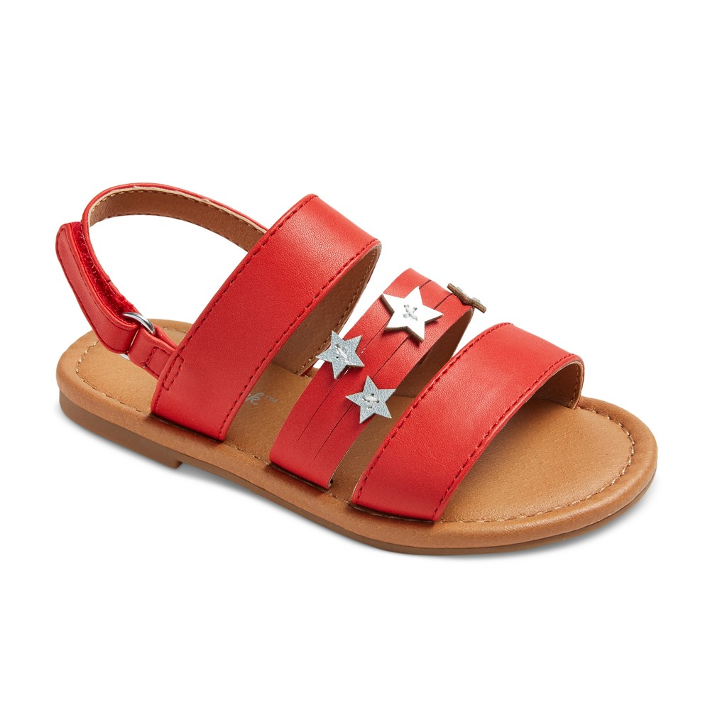 Toddler Girls Kodi Slide sandals 10 - Cat & Jack - Red