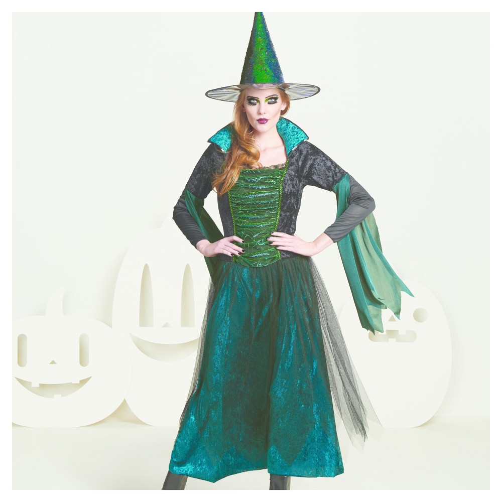 Womens Spider Witch Costume - M - Hyde and Eek! Boutique, Black Green