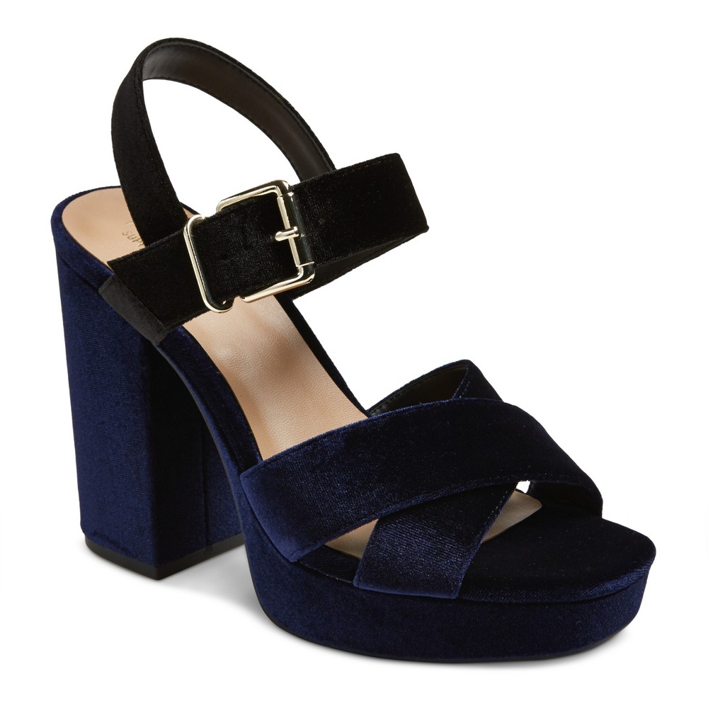 Womens Alexandra Velvet Pumps - Mossimo Supply Co. Navy (Blue) 6