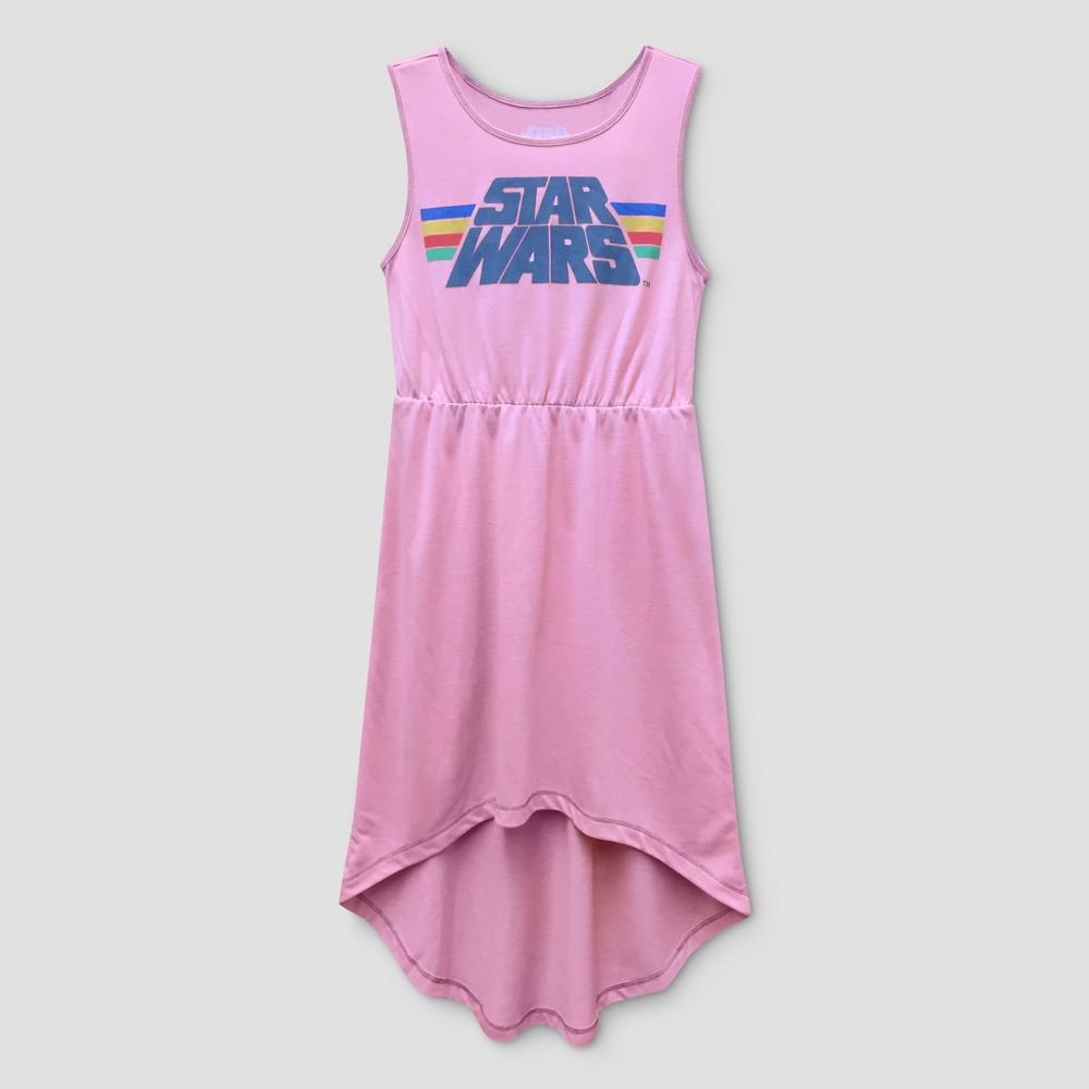 Girls Star Wars Maxi Dress - Coral M(7-8), Size: M (7-8), Pink