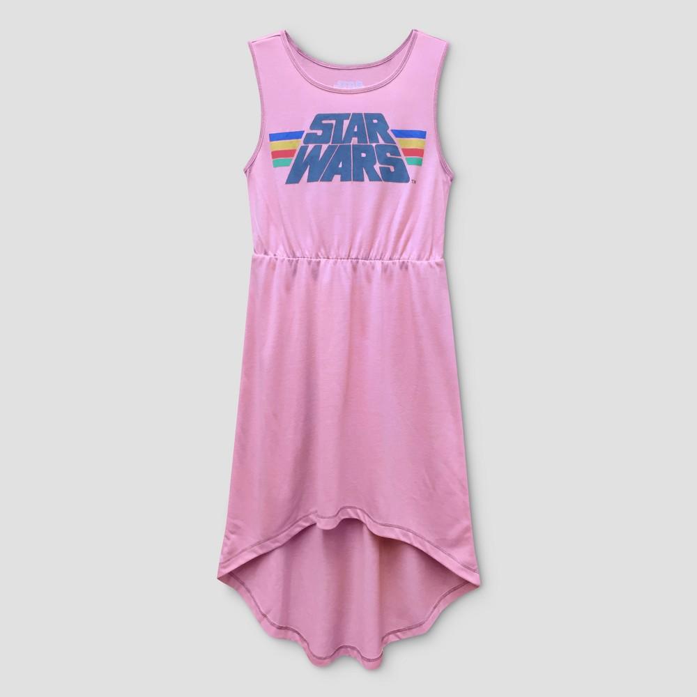 Girls Star Wars Maxi Dress - Coral L(10-12), Pink