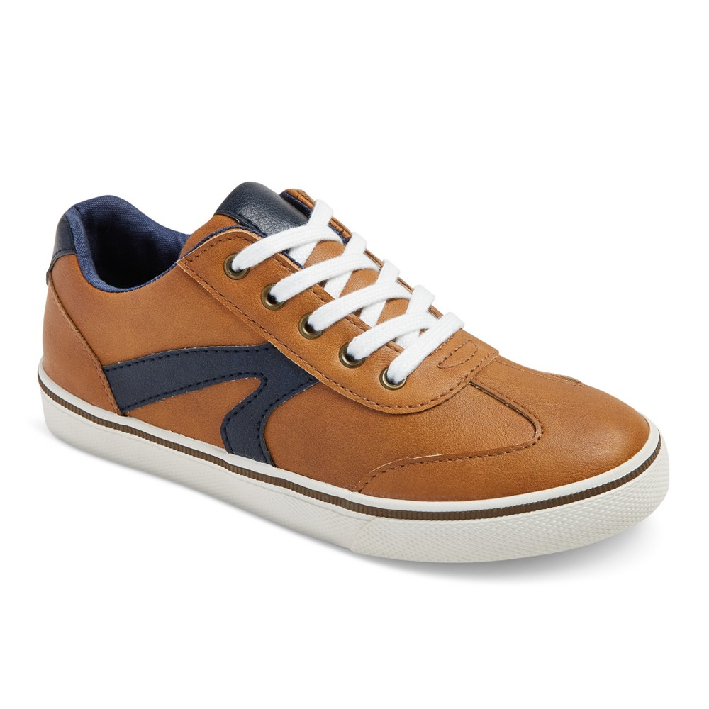 Boys Gibson Casual Sneakers - Cat & Jack Desert Tan 4, Brown