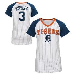 Detroit Tigers Girls' Ian Kinsler Pinstripe T-Shirt Jersey