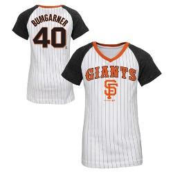 San Francisco Giants Girls' Madison Bumgarner Pinstripe T-Shirt Jersey