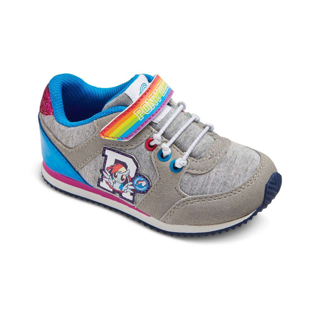 Toddler Girls My Little Pony Athletic Sneakers 8 - Gray