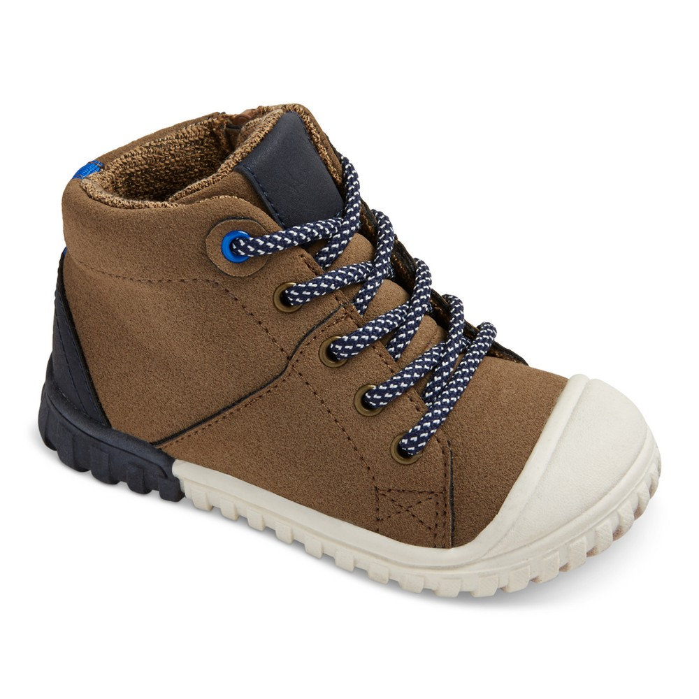 Toddler Boys Mitch High Top Hiking Boots Cat & Jack - Brown 12