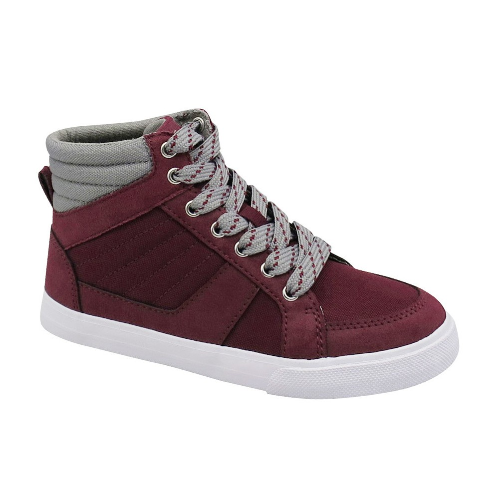 Boys Neil High Top Sneakers Cat & Jack Burgundy 13, Purple