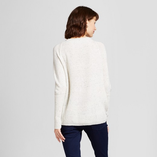 Women's Nep Pullover Sweater - Mossimo™ White : Target