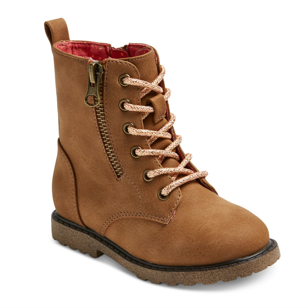 Toddler Girls Jennifer Lace Up Fashion Boots 10 - Cat & Jack - Brown