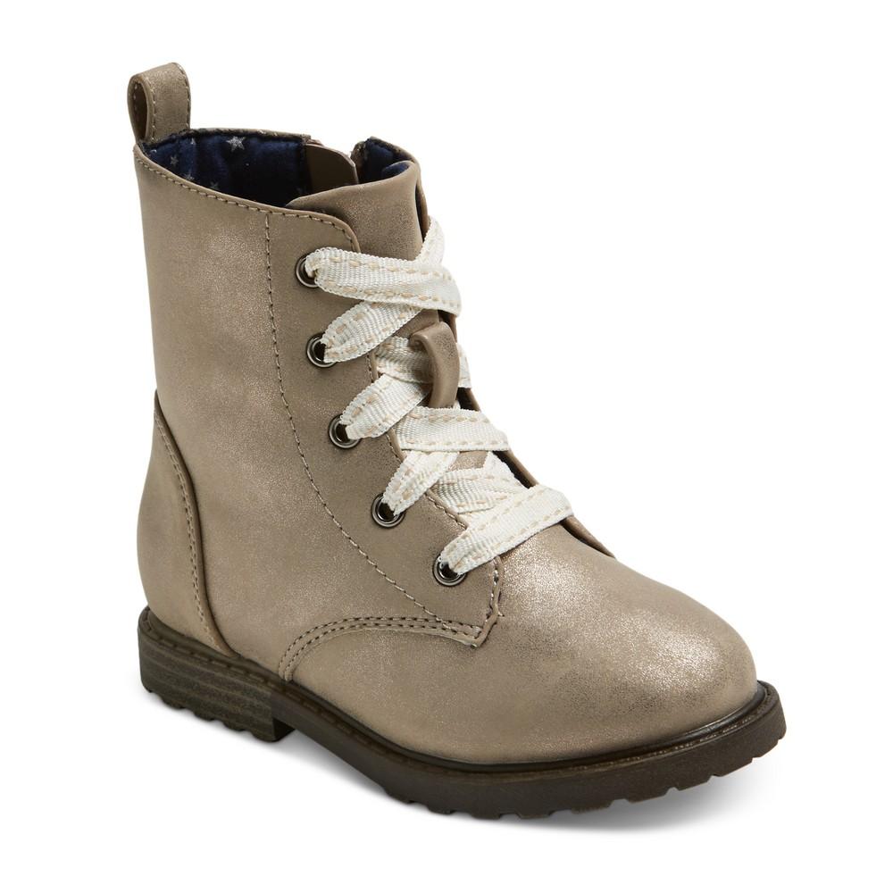 Toddler Girls Jennifer Lace Up Fashion Boots 9 - Cat & Jack - Silver