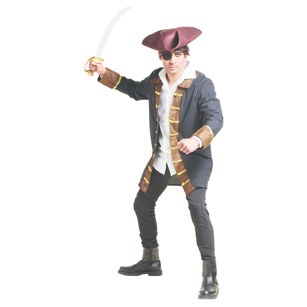 Mens Pirate Jacket Costume - XL - Hyde and Eek! Boutique, Black