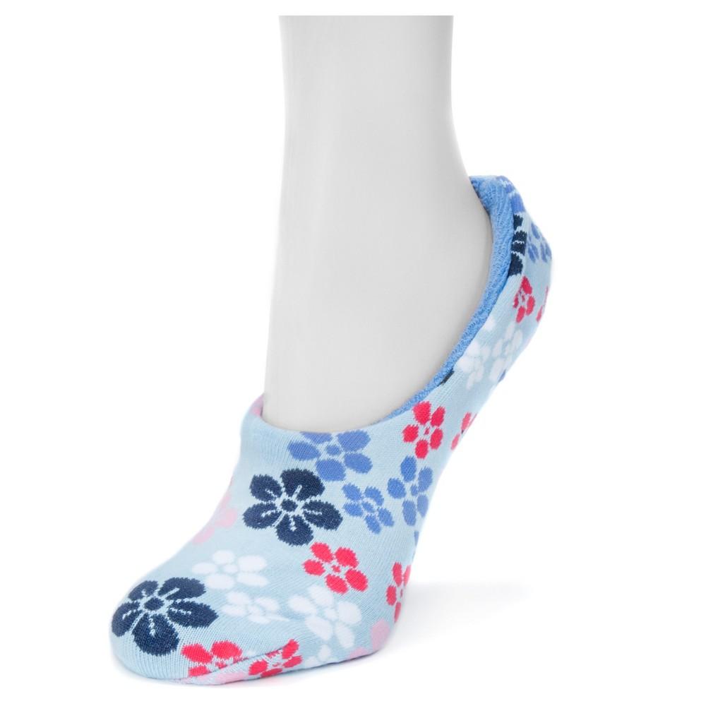 Muk Luks Womens Ballerina Slipper Socks - Powder Blue One Size
