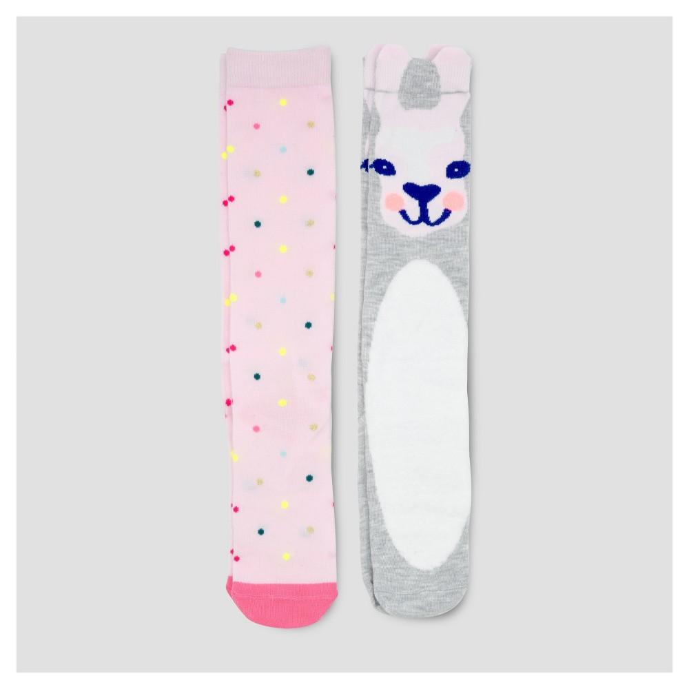 Girls Knee High Socks 2pk - Cat & Jack L, Multicolored
